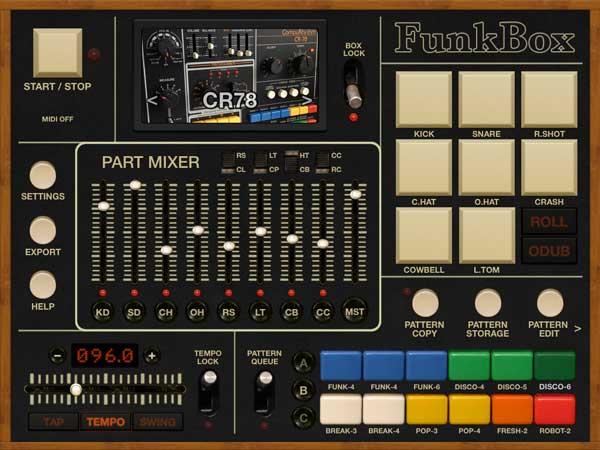 Drum machine sticker
